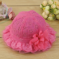 2015 spring baby girls fashion bucket panama hats embroidery flower hat baby princess hat infant cap bebe sun Bucket panama hat