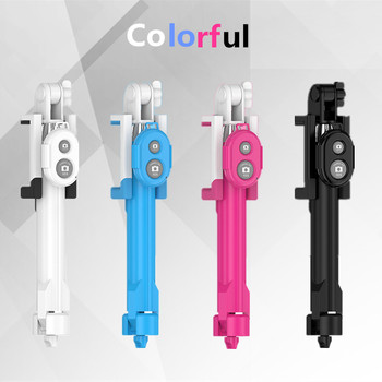 FGHGF Mini Selfie Stick Foldable Tripod 3 in 1 Universal Romote Bluetooth Stick For IOS iPhone 6 6s 7 Samsung Xiaomi Android 1