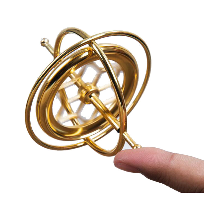 Toys Game New Finger Spinner Gyro ADD&ADHD Spinner Ring Stainless Steel Toy Finger Gyro Kinetic Creative Metal Gyro Sensory Toys