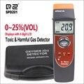 RZ Профессиональный SPD201 детектор кислорода (O2) Ручной Измеритель содержания кислорода тестер монитора 0-25% VOL детектор газа O2 тестер газа
