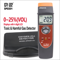 RZ Professional SPD201 Oxygen (O2) Detector Handheld Oxygen Content Meter Monitor Tester 0 25% VOL Gas Detector O2 Gas Tester