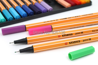 Free Shipping Stabilo Point 88 Fineliner Marker Drawing Pen 0 4 Mm 25 Color Assorted Set