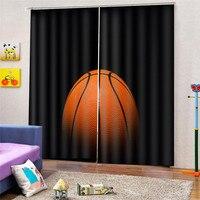 3d 디지털 인쇄 농구 블랙 아웃 커튼 침실 가짜 현대 두꺼운 거실 창 만든 홈 장식 draps ap24