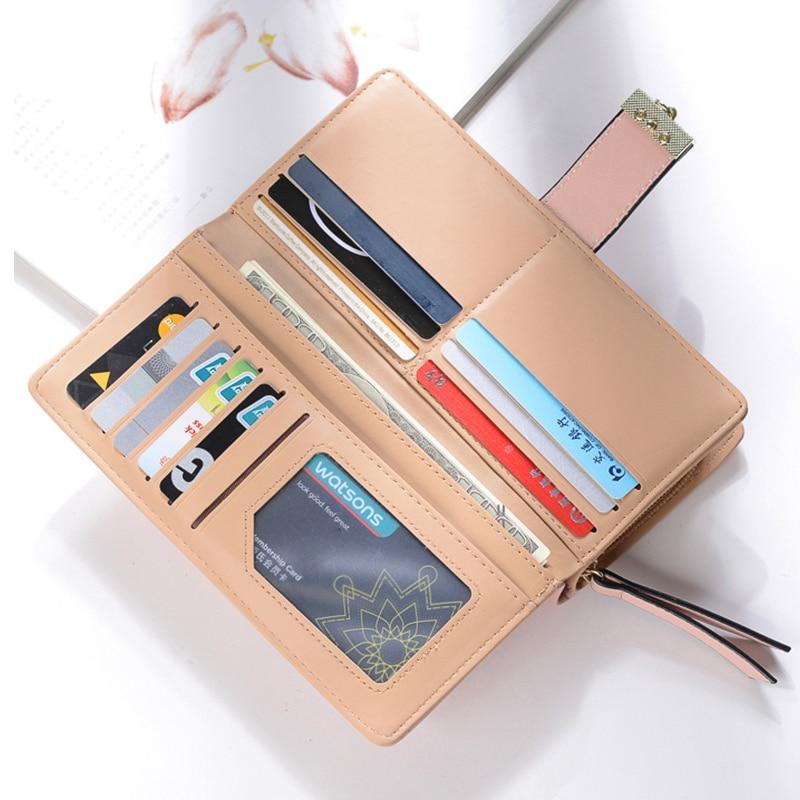 2018Women Wallet Leather Card Mynthållare Pengar Clip Långtelefon - Plånböcker - Foto 5