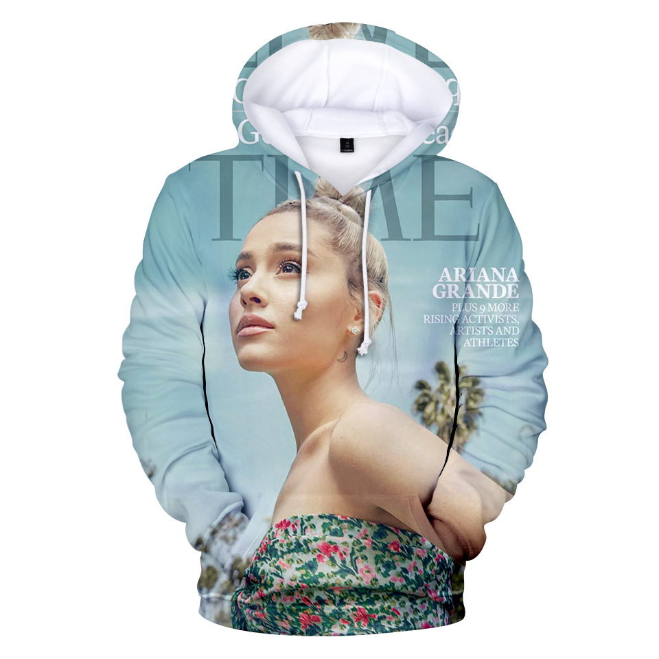 Hot Harajuku Ariana Grande 3D Print Hoodies Sweatshirt Women Men Ariana Grande 3D Hoodies Fashion Design Hoody jung kook bts persona