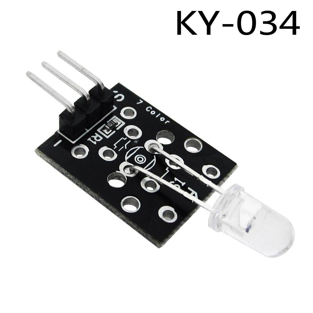1pcs/lot KY-034 3pin Automatically 7 Color Colour Flashing LED Module  diy Starter Kit KY0341pcs/lot KY-034 3pin Automatically 7 Color Colour Flashing LED Module  diy Starter Kit KY034