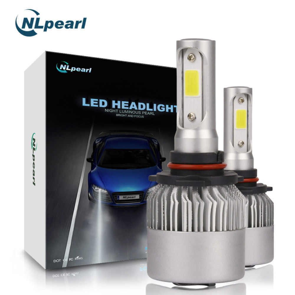 NLpearl 2Pcs 8000LM/Pair 6500K S2 COB Spot LED 9005 Bulb H7 H1 H11 H3 H13 9006 H4 HB3 9005 LED Headlight Bulbs Canbus No Error