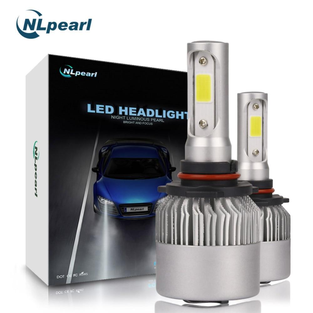 NLpearl 2 stücke 8000LM/Paar 6500 karat S2 COB Spot LED 9005 Birne H7 H1 H11 H3 H13 9006 h4 HB3 9005 LED Scheinwerfer Lampen Canbus Kein Fehler