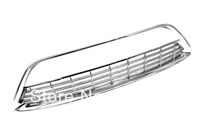 Chrome Front Lower Grille Replacement for Ford Euro Focus MK2 09-10 abs chrome front grille around trim for ford s max smax 2007 2010 2011 2012