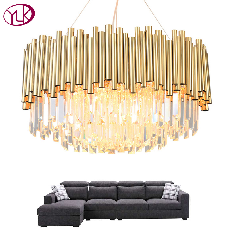 Youlaike Luxury Modern Chandelier Lighting Gold Living Room LED Crystal Lamp Round Dining Room Suspension Hanging Light FixturesYoulaike Luxury Modern Chandelier Lighting Gold Living Room LED Crystal Lamp Round Dining Room Suspension Hanging Light Fixtures