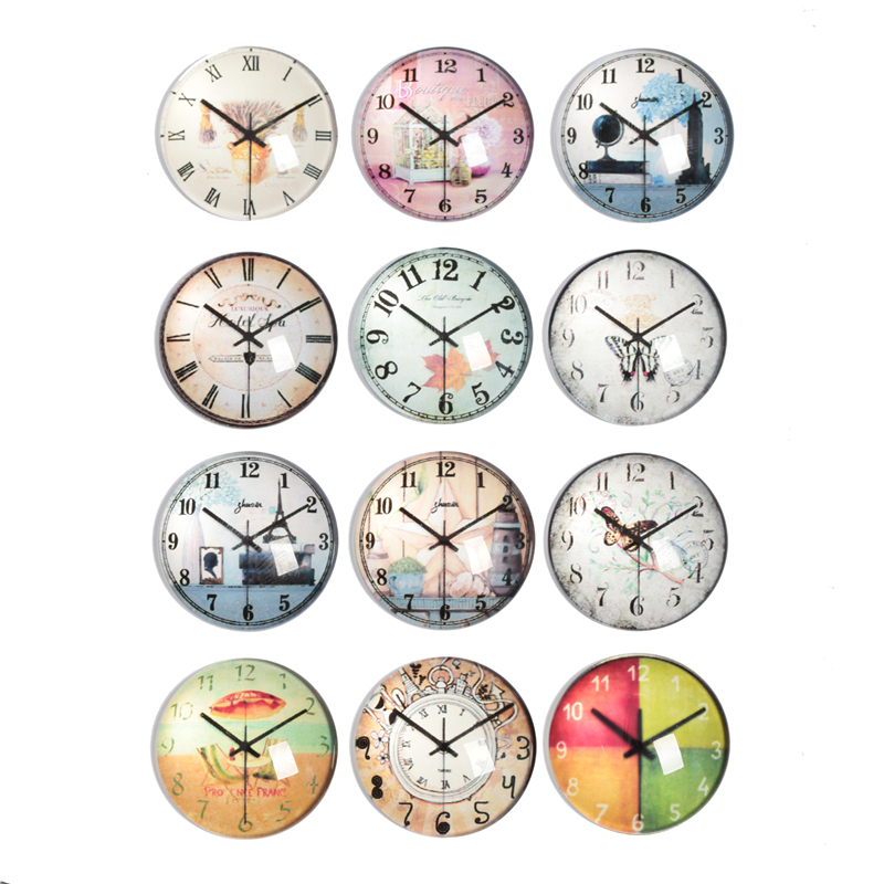 10-30pcs 10mm-30mm Round Handmade Clocks And Watches Photo Glass Cabochons Base Setting Jewelry Charms Accessory No.1012