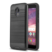 Dual Layer Hybrid Brushed Armor Case Shockproof Soft TPU & Hard Back Cover For Alcatel 1X Evolve /IdealXtra 5059R /TCL LX A502DL