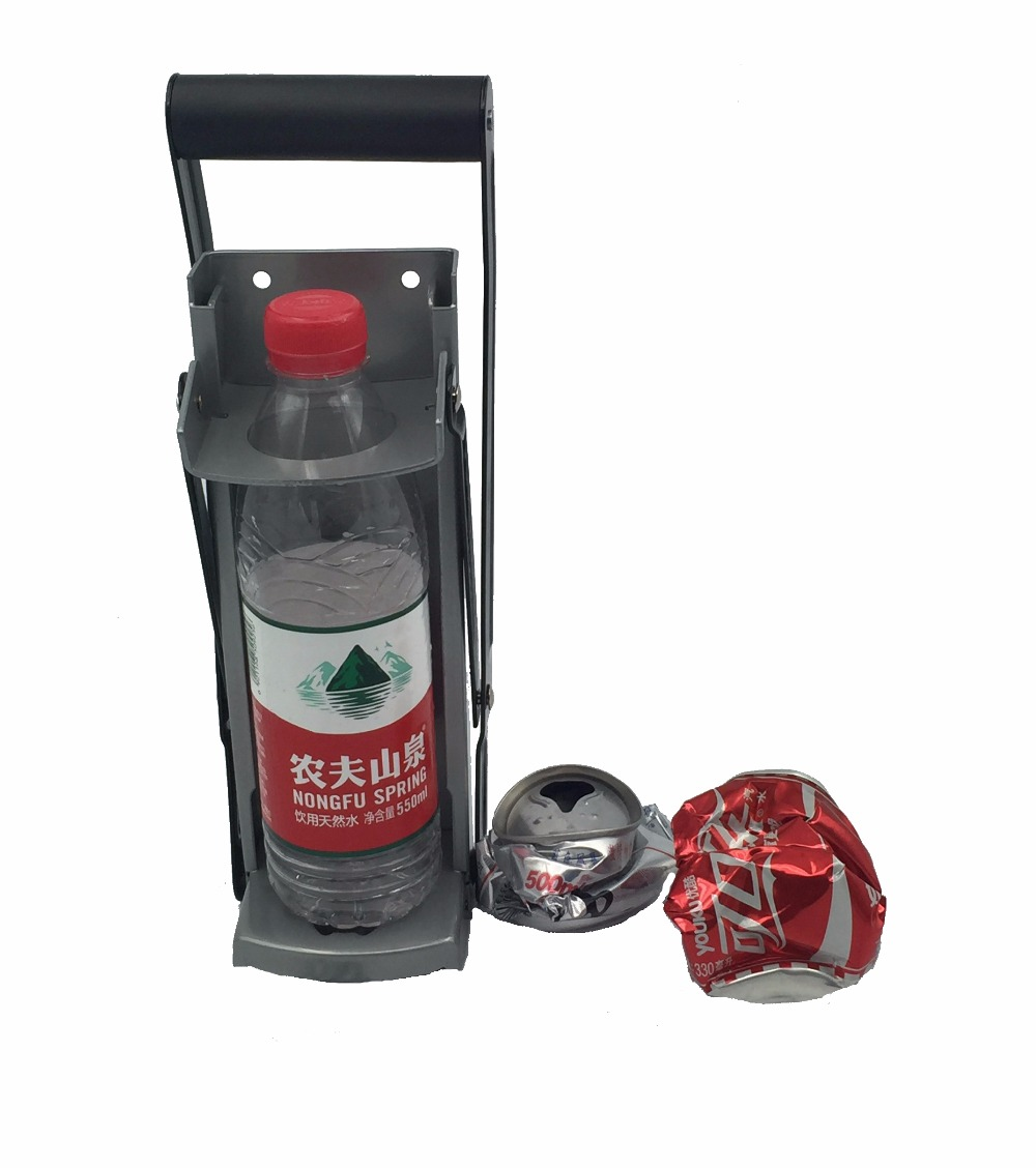 High Quality Easy Use Plastic Bottle & Can Crusher - Wall Mounted - Crush Bottles Plastic Bottle Crusher Up To 500ml