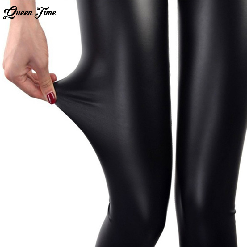 S-3XL New Autumn 2018 Fashion Faux Leather Sexy Thin Black Leggings Calzas Mujer Leggins Leggings Stretchy Plus Size 4XL 5XL