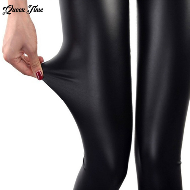 S-3XL New Autumn Fashion Faux Leather Sexy Thin Black Leggings Calzas Mujer Leggins Leggings Stretchy Plus Size 4XL 5XL