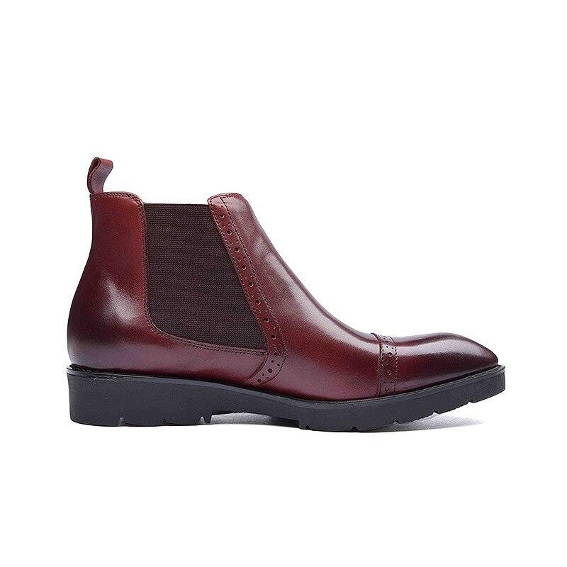 Size Inverno Red Negócios Ankle Men Casuais Italiano Boots Sapatos Plus Retro 44 Sólida Slip 37 Alta Homens Qualidade wine On Black Masculinos Luxo De Calçados xTqSfH