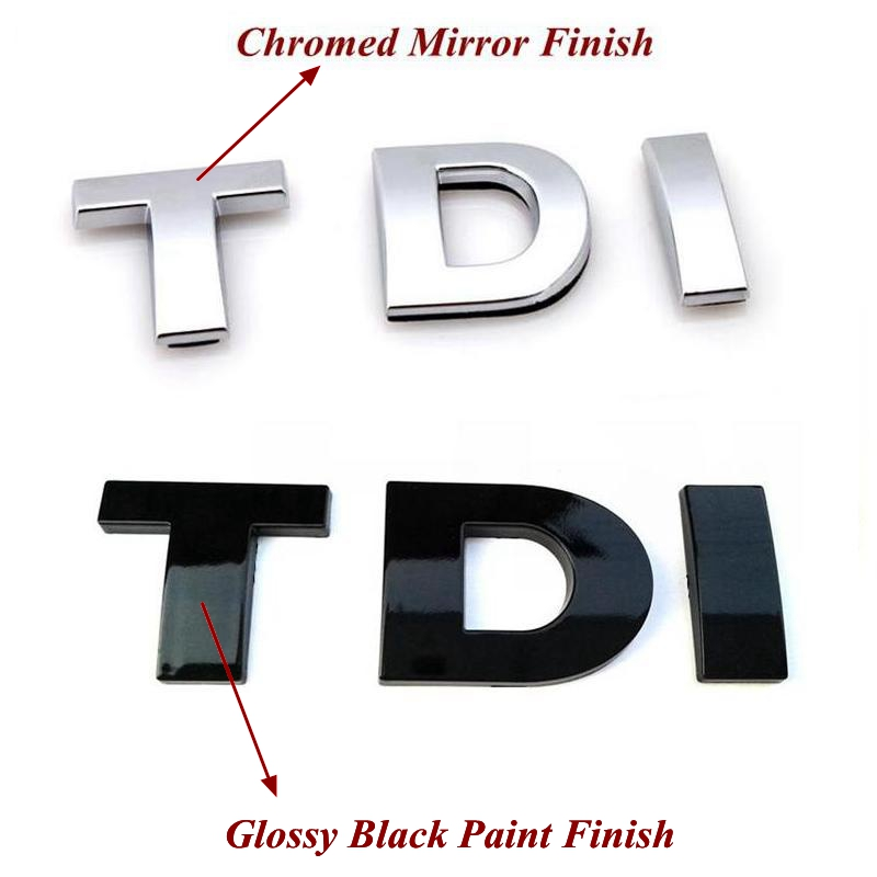 1pcs/lot ABS TDI Emblem Badge Sticker
