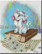 DIY Diamond Painting Lovely Cat Book Page Art Needlework Diamond Embroidery Children Baby Full Rhinestone Cross Stitch Mosaic