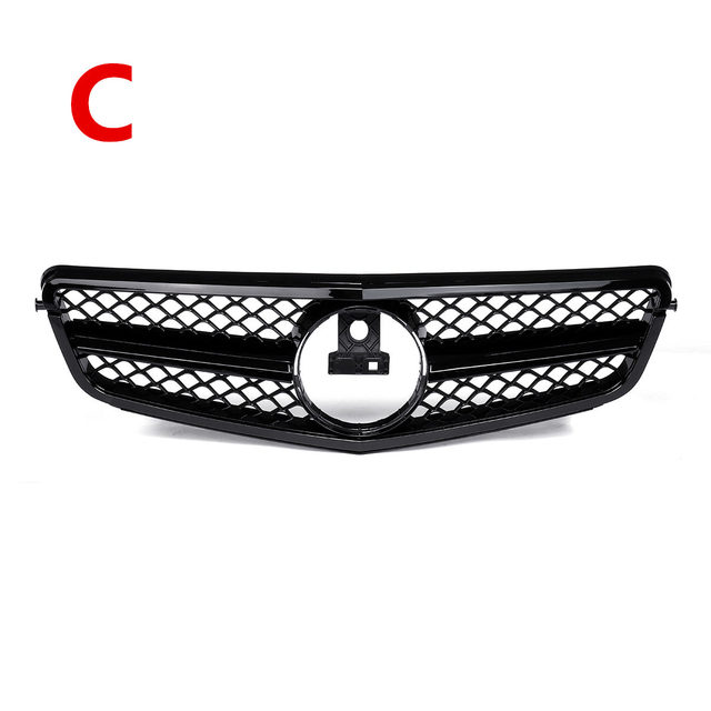 For AMG C63 Style New Car Front Upper Grille Grill For