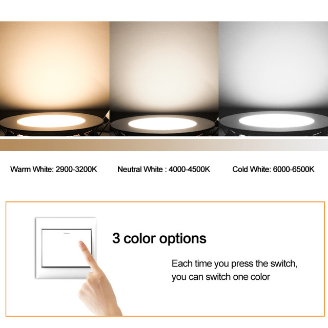 Ultra Bright Round LED Downlight 3W 5W 7W 9W 12W 15W 18W Aluminum AC110V 220V LED Down Light Ceiling Recessed Spot Light