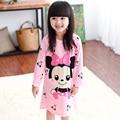 2Y-12Y Meninas Princesa Dos Desenhos Animados Camisolas Crianças Primavera Outono Lolita Caráter Manga Longa Modal Vestido de Pijama Crianças Sleepwear