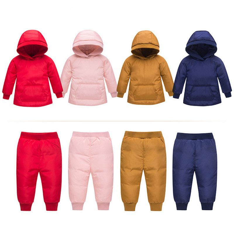 Winter children clothing sets 2018 new girls Thicken Warm parka down jacket for baby girl Ski suit clothes snow wear kids suit 2018 girls clothing warm down jacket for girl clothes 2018 winter thicken parka real fur hooded children outerwear snow coats