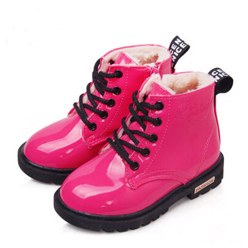 2017-New-Winter-Children-Shoes-PU-Leather-Waterproof-Martin-Boots-Kids-Snow-Boots-Brand-Girls-Boys-Rubber-Boots-Fashion-Sneakers-1