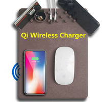 Multifunctional Qi Fast Wireless Charger Mouse Pad Mat Phone Holder Creative Quick Wireless Charging Dock For
