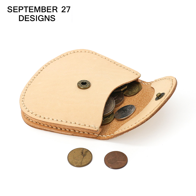 Genuine Leather Retro Coin Purses Men Women Mini Wallets 100% Real Cow Leather Vintage Lady Change Purse Female Small Coin Bag