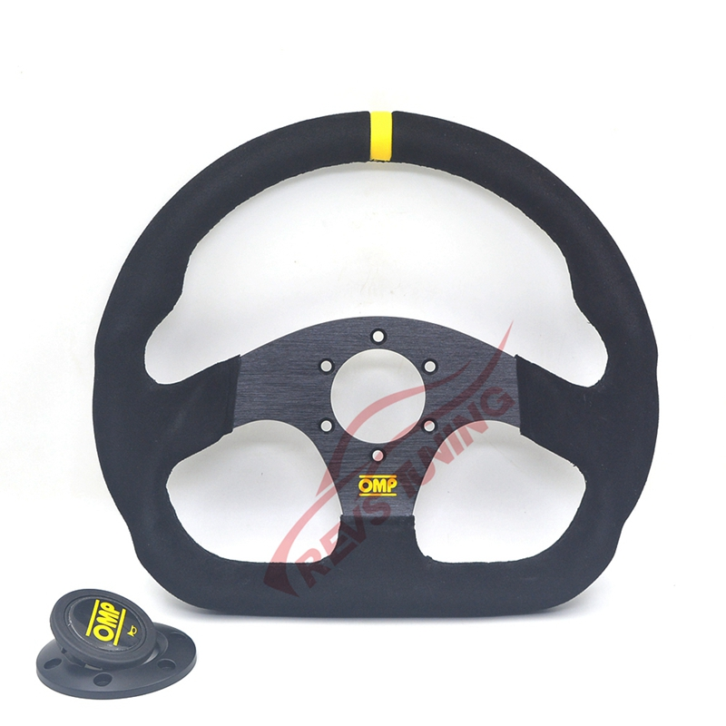 325mm High Quality Car Race Rally Racing Drifting Sport Suede Leather OMP Steering Wheel