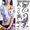 Beautiful sexy waterproof temporary tattoos for women and men 3D scorpion design large arm tattoo sticker QC2607