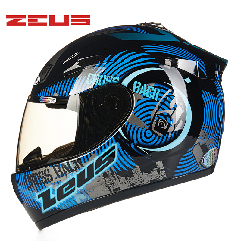 M-XXXL ZEUS Full Face Motorcycle Helmet ABS Motocross Motorbike ECE DOT Helmets Anti-glare deceleration цена