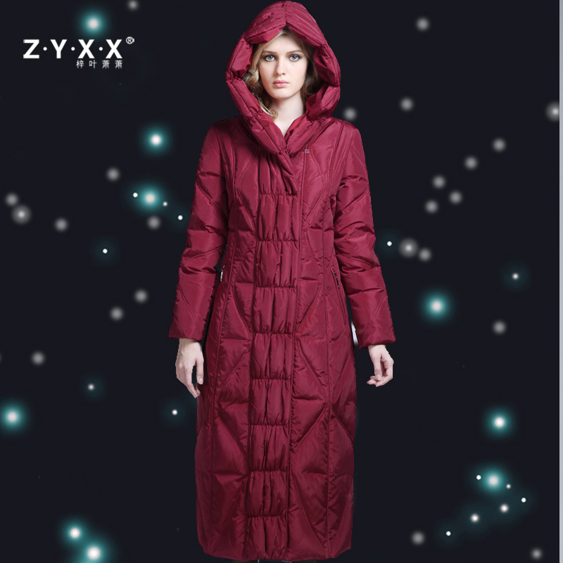 Branded Womens Fashion Winter X-Long Duck   Down     Coat   & Jackets Slim Plus Size Over-the-knee Black Red Grey 2XL 3XL 4XL XXXL XXXXL