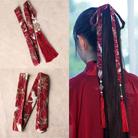 Antique Cotton Linen Printed Hair bands Traditional Chinese Clothing Hair Ornaments Vintage Head Accessories Hair Rope Jewelry