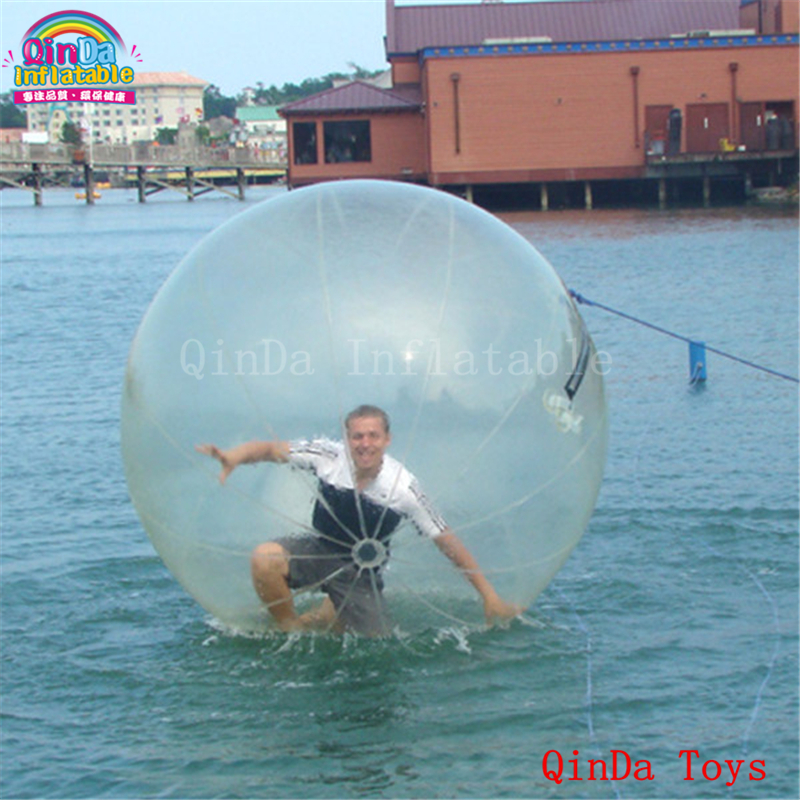 Hot promotional price floating water ball,2m crazy transparent walking on water ball with free pump