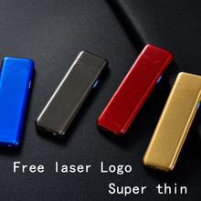 Lighter USB Electronic Tungsten Turbo Lighter WilndProof Plasma Lighter Cigarette Lighter For Smoking Free Laser Logo Metal