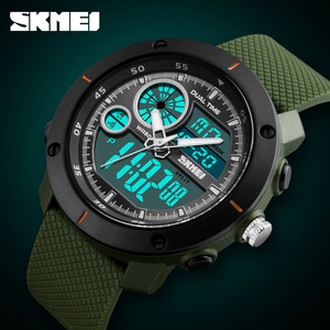Image 4 - Skmei 새로운 야외 스포츠 시계 럭셔리 브랜드 디지털 쿼츠 시계 남자 방수 군사 육군 손목 시계 relogio masculino
