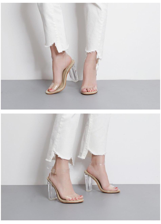 HTB1fszHh8DH8KJjSszcq6zDTFXaW Eilyken 2019 New PVC Women Sandals Sexy Clear Transparent Ankle Strap High Heels Party Sandals Women Shoes Size 35-42