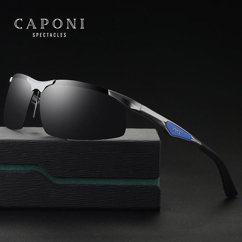 CAPONI Aluminum Magnesium Alloy Polarized Goggles Men Sunglasses Driving Sun Glasses Male Oculos Gafas De Sol 3009