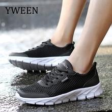 YWEEN Summer Sneakers Men Shoes Breathable Fashion Mesh Casual Shoes Men Women Mesh Shoes Big Plus Size 36-48