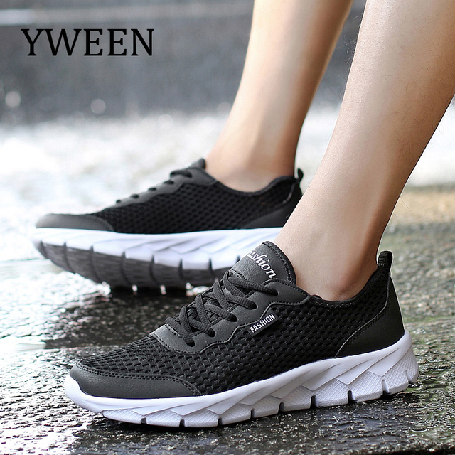 YWEEN Summer Sneakers Men Shoes Breathable Fashion Mesh Casual Shoes Men Women Mesh Shoes Big Plus Size 36-48
