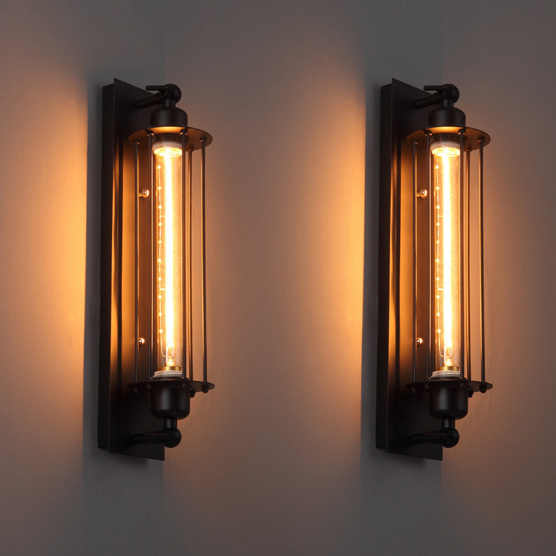 1 pcs loft vintage wall lamps american industrial wall. Black Bedroom Furniture Sets. Home Design Ideas