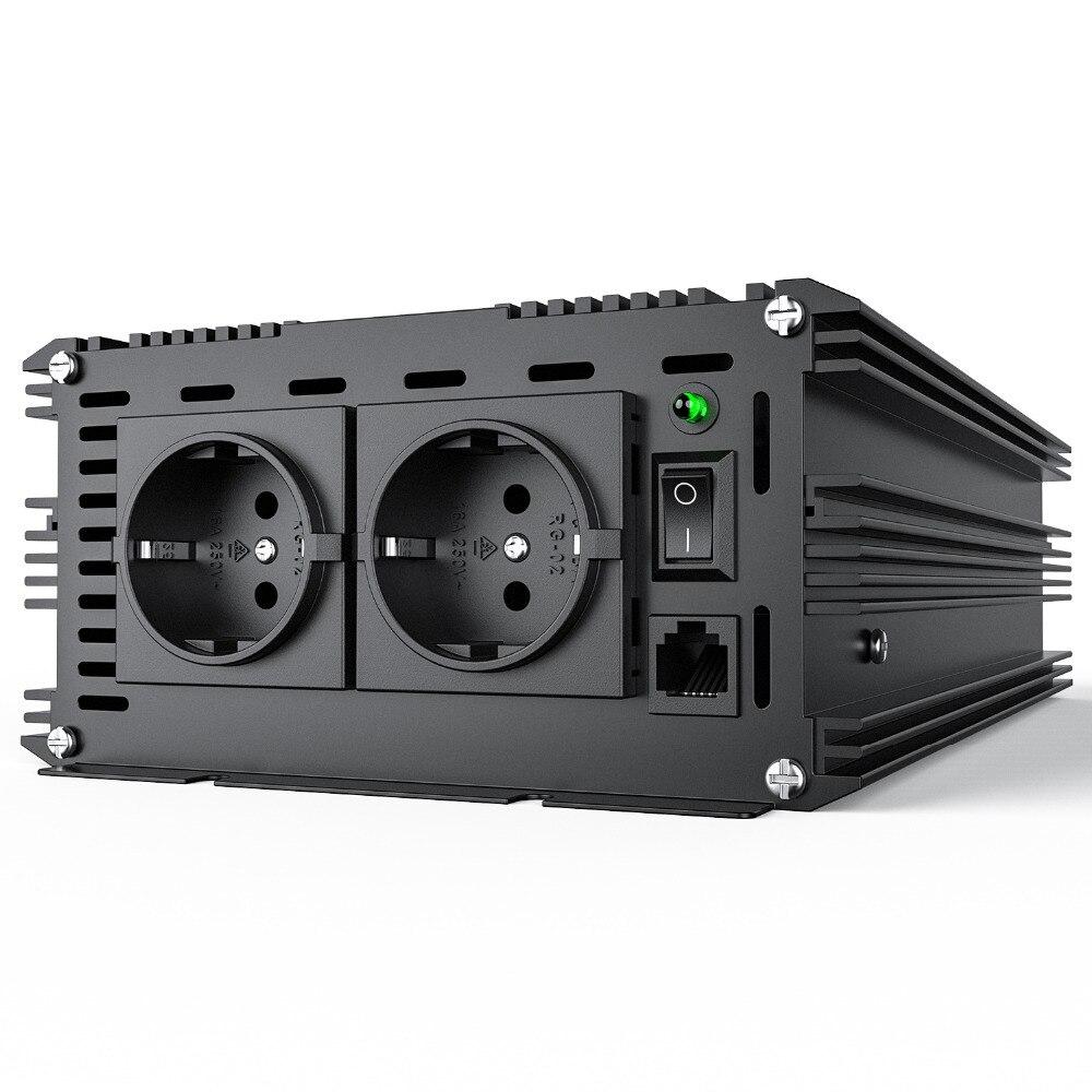 3500 Watt 7000 crête pur onduleur à onde sinusoïdale convertisseur DC 24 V à AC 220 v 230 V démarrage en douceur