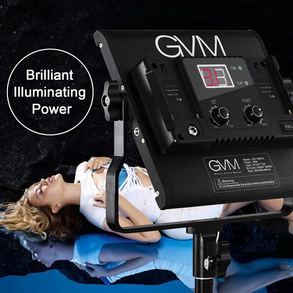 Gvm Photo Studio Led Ring Light: GVM 480LS 29W Photo LED Studio Light Panel CRI97+ 480 LED