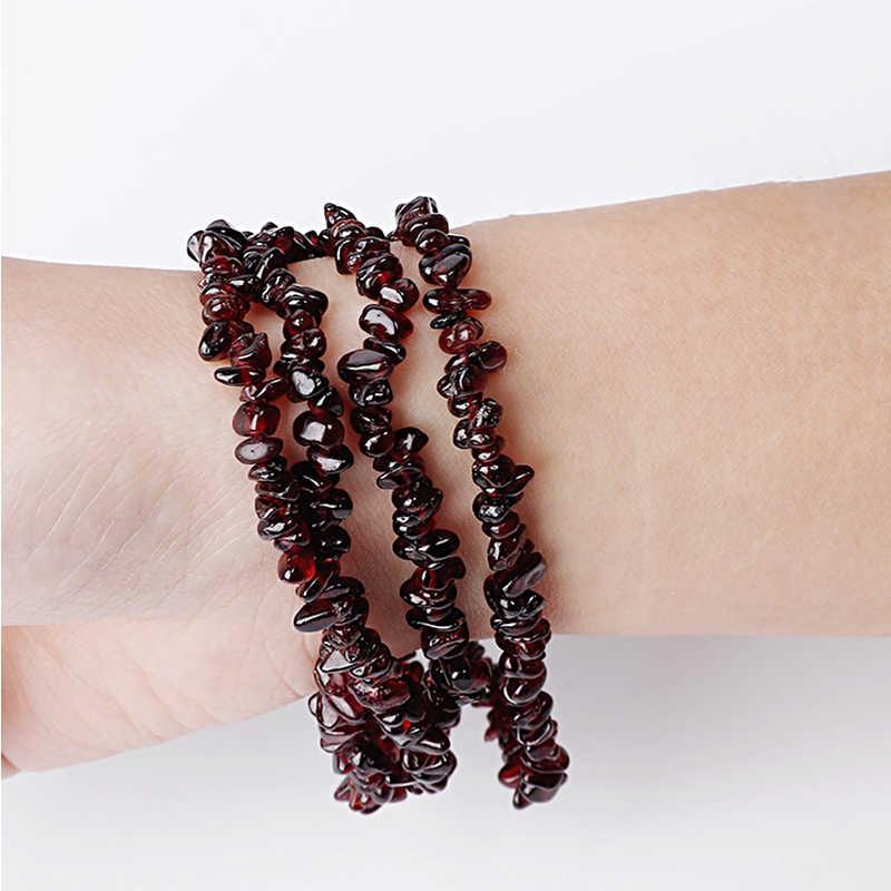 Heiße Ankunft 5-6mm Naturstein Perlen Dark Red Granat Unregelmäßigen Korn Für DIY Armbänder & Halsketten Schmuck, der
