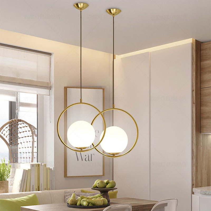 Nordic modern pendant lights lamp glass ball dining room round suspension luminaire led hanging lamp iron bar bedroom black/glod iwhd glass ball modern pendant lamp fashion iron led hanging light fixtures bedroom living room cafe suspension luminaire lustre