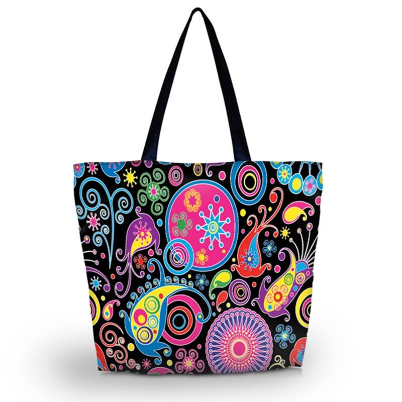 2016 Foldable Shopping Bag Women Shopping Bag Shoulder Bag Lady Handbag Pouch Zipper Closure Pocket Shopping Tote SB-2972