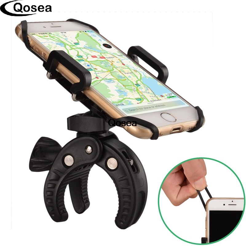 Qosea Universal Bike Mont Téléphone Holder Moto Vélo 3-7 pouce Largeur Mobile Support Téléphonique Pour iPhone Pop Dispositifs socket