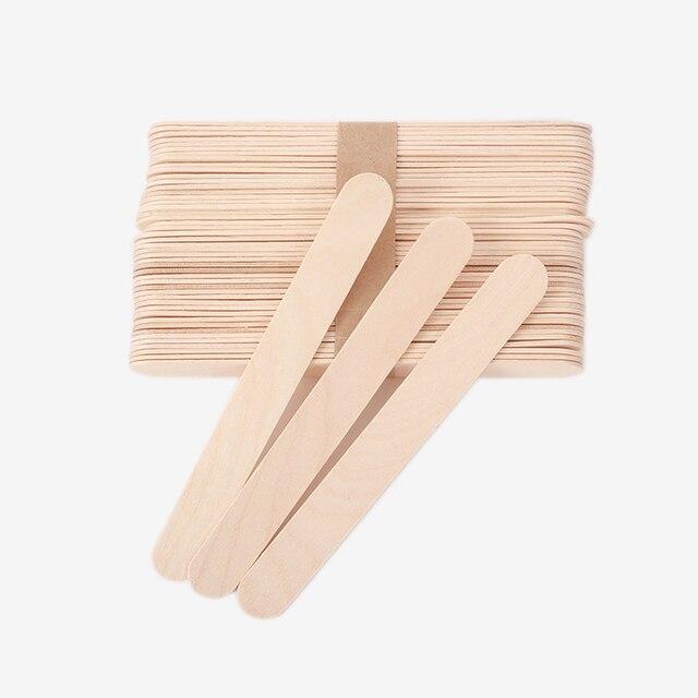 20 قطعة خافض لسان الخشب الصبح عصا الوشم أدوات خافض لسان المتاح الخيزران إزالة العصي الوشم التموين