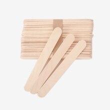 Deflector de lengüeta de madera palillo de depilación, herramientas de tatuaje, deflector de lengua, palillos desechables de eliminación de bambú, suministro de tatuaje, 20 Uds.